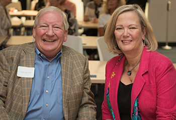 Earl Maxwell, CEO of St. David's Foundation & Dean Alexa Stuifbergen