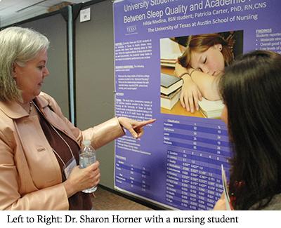 Dr. Sharon Horner with a nursing student