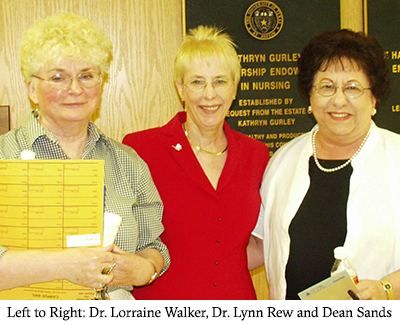 Dr. Lorraine Walker, Dr. Lynn Rew and Dean Sands