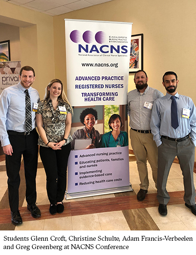 Students Glenn Croft, Christine Shulte, Adam Francis-Verbeelen and Greg Greenberg at NACNS Conference