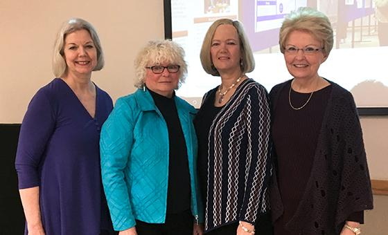 Sharon Horner, Lorraine Walker, Dean Alexa Stuifbergen and Sharon Brown