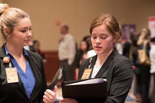 Students at the Career Fair